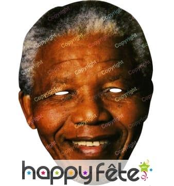 Masque de Nelson Mandela en carton