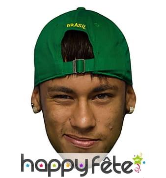 Masque de Neymar en carton plat