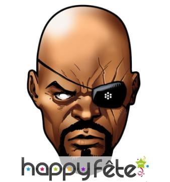 Masque de Nick Fury en carton, BD Avengers