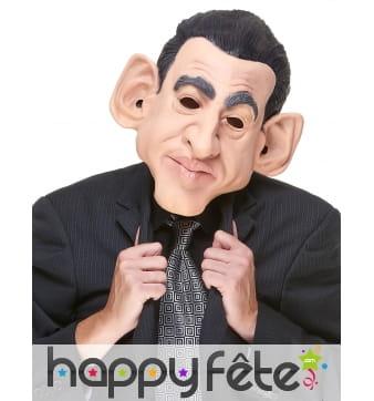Masque de Nicolas Sarkozy humoristique