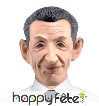 Masque de Nicolas Sarkozy intégral