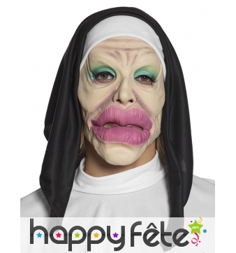 Masque de nonne vulgaire humoristique