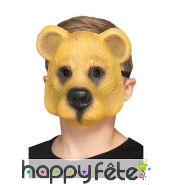 Masque d'ours brun facial pour enfant