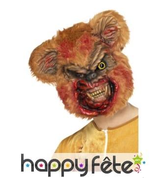 Masque d'ours en peluche zombie