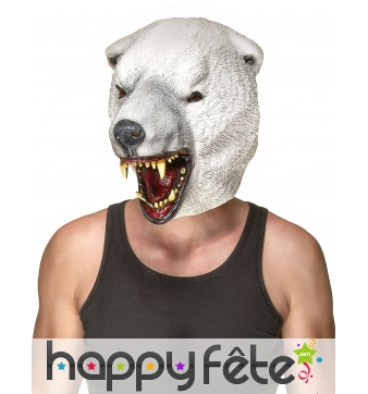 Masque d'ours polaire intégral