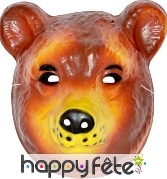 Masque d'ours pour enfant