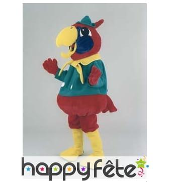Mascotte de perroquet coloré
