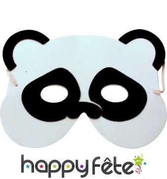 Masque de panda pou enfant, en mousse