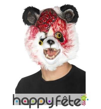 Masque de panda zombie