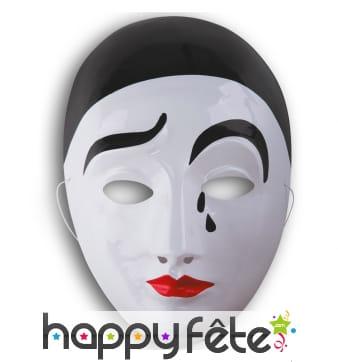 Masque de Pierrot qui rit et qui pleure