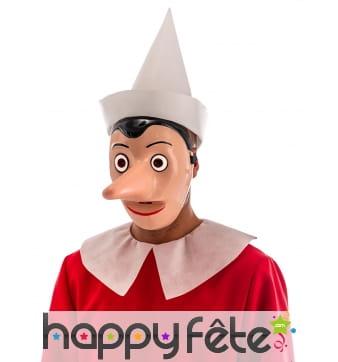 Masque de Pinocchio avec nez amovible, adulte