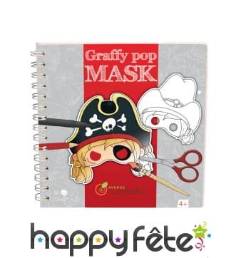 Masque de pirate à peindre, graffy pop