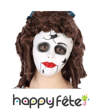 Masque de poupée cassée pour adulte
