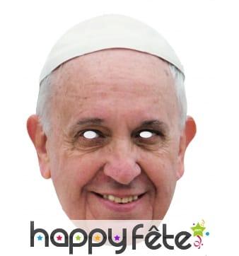 Masque du Pape François 1er en carton