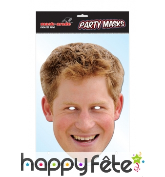 Masque du prince Harry, carton