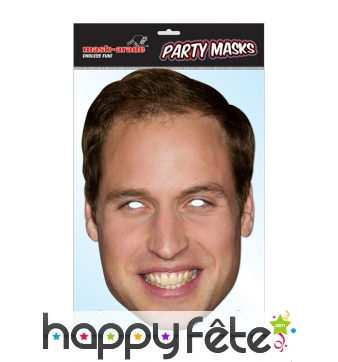 Masque du Prince William, en carton