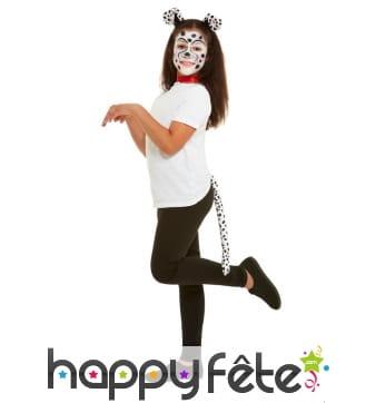 Maquillage Dalmatien queue et oreilles pour enfant
