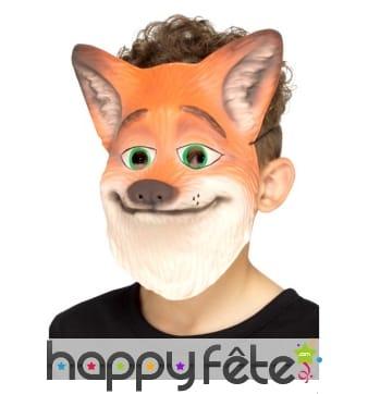 Masque de renard orange pour enfant
