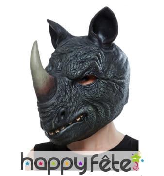 Masque de rhinocéros gris intégral pour adulte