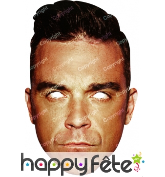 Masque de Robbie Williams en carton