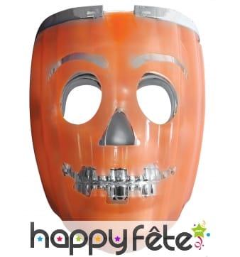 Masque de robot citrouille lumineux