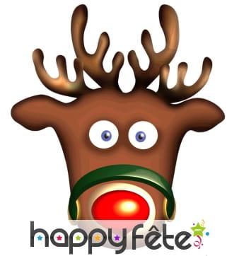 Masque de Rudolph le renne en carton