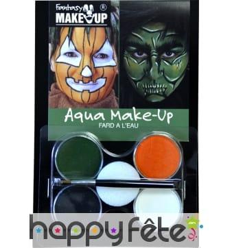 Maquillage de sorcière ou citrouille aquaexpress