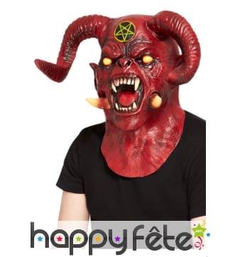 Masque de satan intégral rouge pour adulte