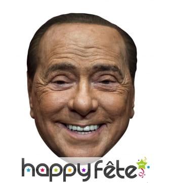 Masque de Silvio Berlusconi en carton