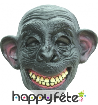 Masque de singe chimpanzé souriant
