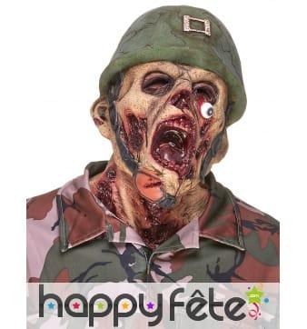 Masque de soldat zombie défiguré