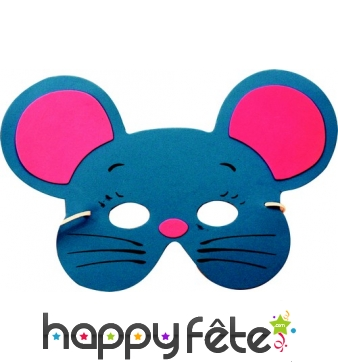 Masque de souris pour enfant, en mousse