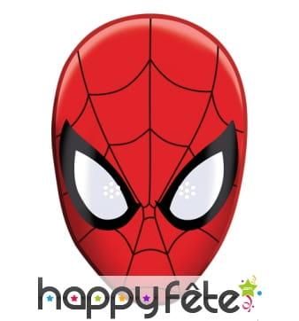 Masque de spiderman BD en carton plat
