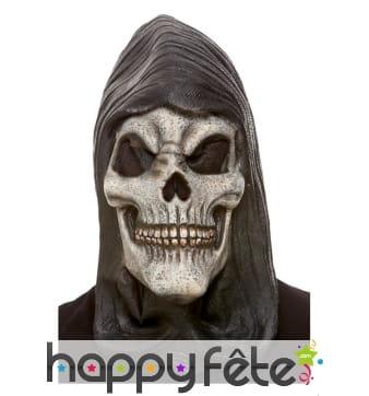 Masque de squelette avec capuche, adulte