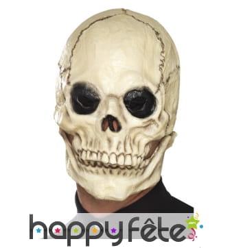 Masque de squelette avec mâchoire mobile