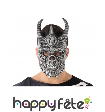 Masque de squelette dragon pour adulte
