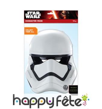 Masque de stormtrooper en carton plat