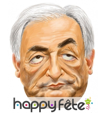 Masque dominique strauss-kahn caricature