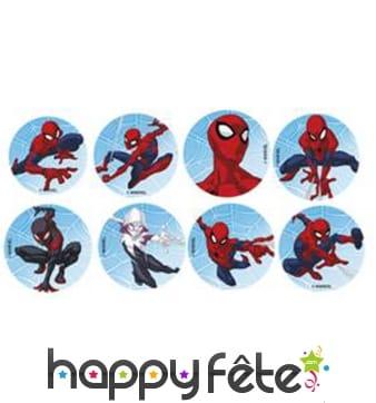Minis disques Spiderman en sucre de 34mm