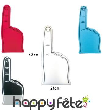 Main doigt tendu en mousse, 44cm