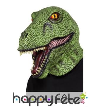 Masque de T-rex intégral, en latex