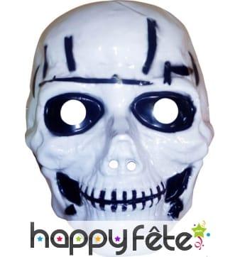 Masque de tête de mort, plastique