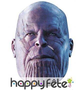 Masque de Thanos Avengers Infinity War en carton