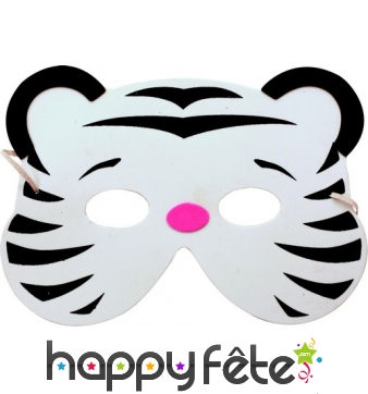 Masque de tigre blanc en mousse