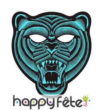 Masque de tigre LED réactif à la musique, adulte