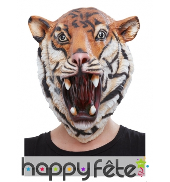 Masque de tigre qui rugit intégral pour adulte