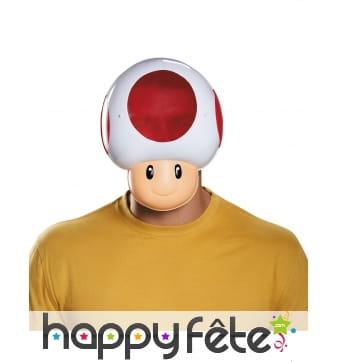 Masque de Toad pour adulte, en plastique