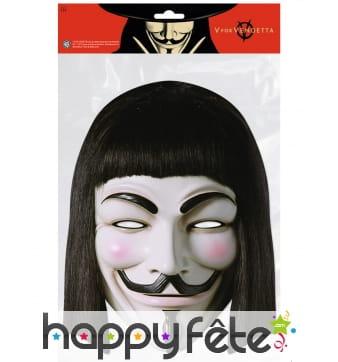 Masque de V pour vendetta en carton