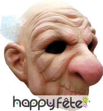 Masque de vieil homme au gros nez