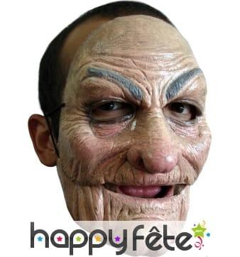 Masque de vieil homme en latex souple